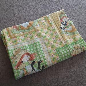 Vintage Twin Sheet Cottage Farmhouse Set Fabric